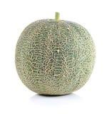 Ripe cantaloupe melon on white background Stock Photography