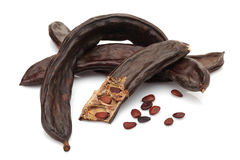 Ripe Carob Group Stock Photos
