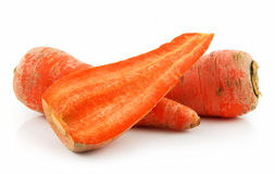 Ripe Carrot Isolated on White Royalty Free Stock Images