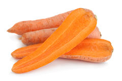 Ripe carrot on white background Royalty Free Stock Images