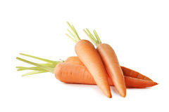 Ripe carrots. Fresh and ripe carrots isolated on white Stock Images
