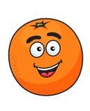 Ripe cartoon orange fruit Stock Photography