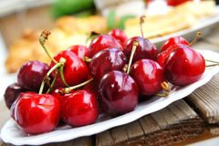 Ripe cherries Royalty Free Stock Image