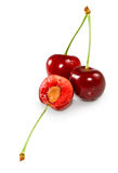 Ripe cherries Stock Photos