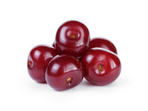 Ripe cherries without stems Stock Photos