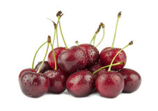 Ripe cherries  on white background Royalty Free Stock Photography