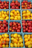 Ripe, cherry and grape tomatoes Royalty Free Stock Image