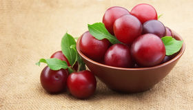 Ripe cherry plum Stock Photo