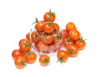 Ripe cherry tomatoes in a glass bowl Royalty Free Stock Photo