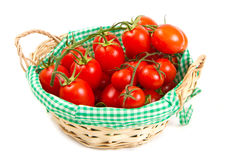 Ripe cherry tomatoes Stock Images