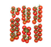 Ripe cherry tomatoes  on a white background Royalty Free Stock Image