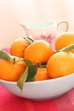 Ripe clementines in the bowl Royalty Free Stock Photography