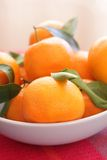 Ripe clementines in the bowl Royalty Free Stock Image
