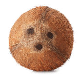 Ripe coconut on a white background Royalty Free Stock Photos