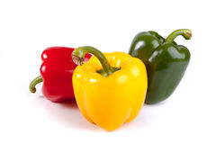 Ripe colored pepper. S isolated on a white background royalty free stock images