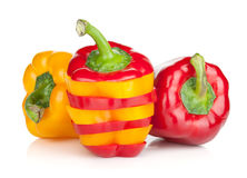 Ripe colorful bell peppers Royalty Free Stock Photography