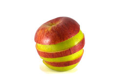 Ripe combined sliced apples Royalty Free Stock Image