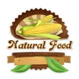 Ripe corn label design Stock Images