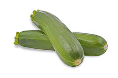 Ripe courgettes on white background Stock Photography