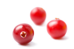Ripe cranberries isolated Royalty Free Stock Image