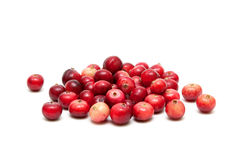 Ripe cranberries isolated on white background Stock Photo
