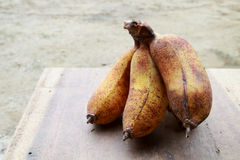 Ripe cultivated banana. The ripen cultivated banana on thetable Royalty Free Stock Photography
