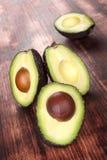 Ripe cut fresh avocados. Stock Images