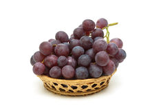 Ripe dark grapes isolated on white background Royalty Free Stock Photo
