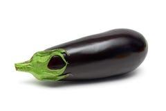 Ripe eggplant isolated on white background close up Royalty Free Stock Images