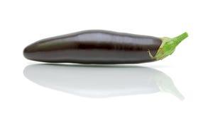Ripe eggplants closeup on white backgroun Stock Photography