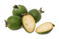 Ripe feijoa (isolated) Royalty Free Stock Image