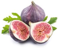 Ripe fig fruits on the white background. Royalty Free Stock Images