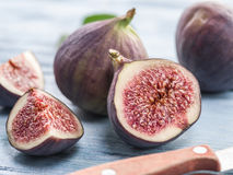 Ripe fig fruits. Stock Images