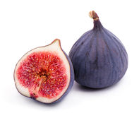 Ripe fig. Ripe fig  on white background Stock Photography