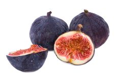 Ripe figs. Isolated on a white background Royalty Free Stock Photos