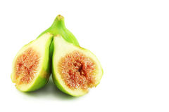 Ripe figs cut. Isolated, closeup Royalty Free Stock Photography