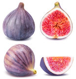 Ripe figs cut piece collection isolated on white background Royalty Free Stock Image