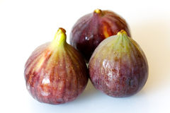 Ripe figs isolated on a white background royalty free stock photos