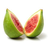 Ripe figs. Isolated on white background Royalty Free Stock Image