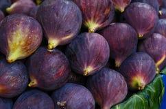 Ripe figs at street market Stock Photos