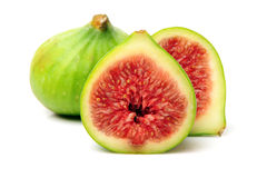 Ripe figs. On a white background Stock Image