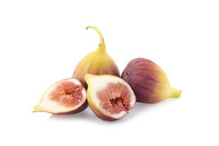 Ripe figs on a white background Royalty Free Stock Photo