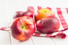 Ripe flat nectarines royalty free stock image
