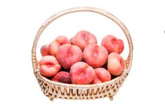 Ripe flat peaches Royalty Free Stock Photos