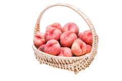 Ripe flat peaches Stock Images
