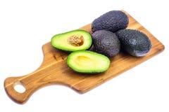 Ripe fresh avocado on white background. Studio Photo stock photos