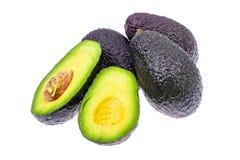 Ripe fresh avocado on white background. Studio Photo stock image