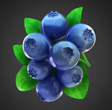 Ripe fresh blueberries with clipping path stock photos
