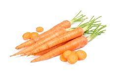 Ripe fresh carrots isolated. On white background stock image