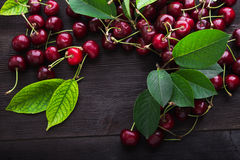 Ripe fresh cherry berry Stock Photo